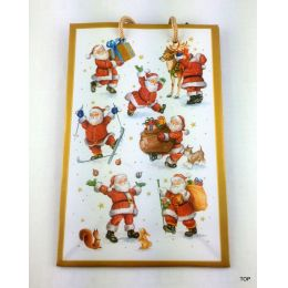 Geschenktüten Weihnachtstüten Comic Santa Papiertüte glänzend Weihnachtstasche 18,5  x 12 x 6 cm