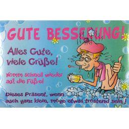 GUTE BESSERUNG SEIFE Pflegeseife Geschenk Lustige Geschenkidee GAG Seife 100g