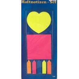 Haftnotizen - Set Notizzettel Haftstreifen Haftmarker Lesezettel Neon Farben