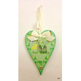 Herz aus Holz Dekoherz Dekohänger Holzherz farbig bedruckt zum Hängen