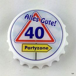Kapselheber  Flaschenöffner mit Magnet Alles Gute 40 Geburtstag Geschenkidee Top!!!