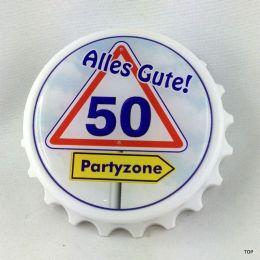 Kapselheber  Flaschenöffner mit Magnet Alles Gute 50 Geburtstag Geschenkidee Top!!!