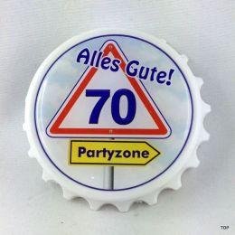 Kapselheber  Flaschenöffner mit Magnet Alles Gute 70 Geburtstag Geschenkidee Top!!!