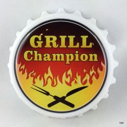 Kapselheber  Flaschenöffner mit Magnet Grill Champion Geburtstag Geschenkidee Top!!!