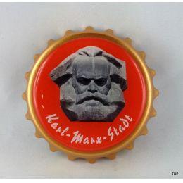 Kapselheber  Flaschenöffner mit Magnet Kopf Karl-Marx-Stadt Geschenkidee Top!!!