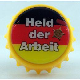 Kapselheber Held der Arbeit Flaschenöffner Magnet DDR Sächsisch Ostalgie Geschenkidee