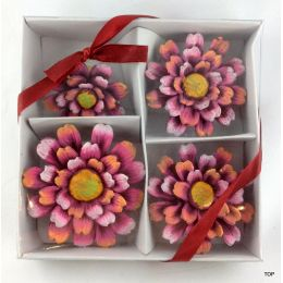 Keramik  Blumen Gerbera Set 4 Größen niedliche farbenfrohe Blumen  zum Dekorieren und verzieren