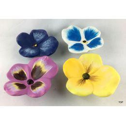 Keramik  Stiefmütterchen 4 verschiedene Farben zum Dekorieren