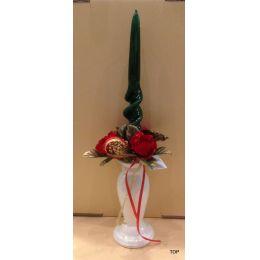 Kerzenhalter Kerzenleuchter Steingut weiß mit Silber 15cm elegant günstig TOP!!!