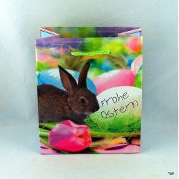 Kleine Geschenktüte mit Beschriftungskärtchen für eine kleine Osterüberraschung Maße:  13,5 x 11 x 6 cm