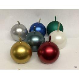 Kugelkerzen 3,8 cm Durchmesser metallic 9 Stück pro Farbe in verschiedenen Farben