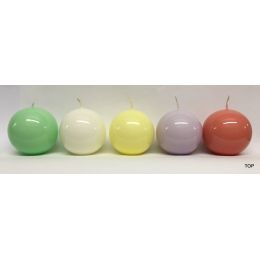 Kugelkerzen 5,8 cm Durchmesser lackiert 1 Stück in verschiedenen Farben erhätlich