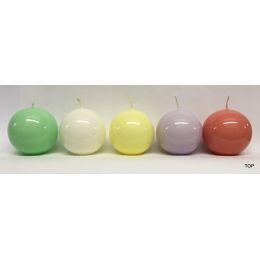 Kugelkerzen 5,8 cm Durchmesser lackiert 4 Stück in verschiedenen Farben erhätlich