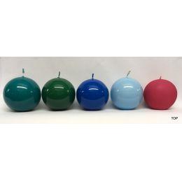 Kugelkerzen 5,8 cm Durchmesser lackiert in verschiedene Farben