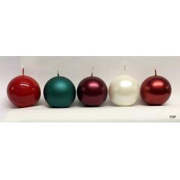 Kugelkerzen 5,8 cm Durchmesser metallic 1 Stück pro Farbe in verschiedenen Farben