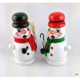 Mini Räuchermännchen Schneemann Räucherfigur Schneemannpaar Räuchermann Weihnachten Weihnachtsdekoration Deko