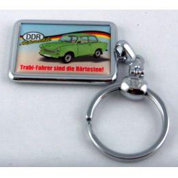 Schlüsselanhänger DDR Trabant 601 Spruch 3D Ostprodukt Ossi Geschenkidee massives Metall