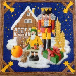 Servietten Weihnachtsdekoration Traditionelles erzgebirgisches Design Home Fashion 1 Packung 20 St.