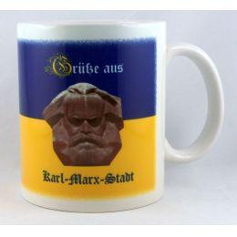 """Tasse """"Grüße aus Karl...Kaffeetasse Sachsen Porzellan Deko Ostprodukt Ossi Sachsen"""