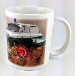 """Tasse """"Heiße Blitzer"""" Kaffeetasse Sachsen Porzellan Deko Ostprodukt Ossi Sachsen"""