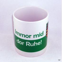 "Tasse ""Immor mid...Kaffeetasse Sachsen Porzellan Deko Ostprodukt Ossi Sachsen"