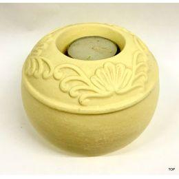 Teelichthalter Kerzenhalter Deko-Teelichthalter Keramik mit Verzierungen