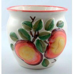Übertopf mit früchtedesign Motiven Keramik bauchige Form für individuellen Wohnbereich