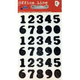 Zahlen Selbstklebende Ziffern Klebezahlen wetterfest schwarz Etiketten Schriftgröße 15 mm Klebesticker Aufkleb