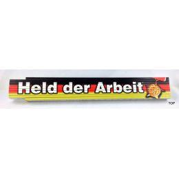 Zollstock Held der Arbeit bedruckt Ostalgie Sachsen sächsisch Gliedermaßstab 2m DDR Ostprodukte