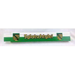 Zollstock Sachsen Sglatschtglei bedruckt Ostalgie sächsisch Gliedermaßstab 2m DDR Ostprodukte