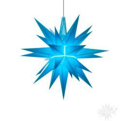Original Herrnhuter Stern A1e aus Kunststoff für die Innenverwendung, blau