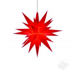 Original Herrnhuter Stern A1e aus Kunststoff für die Innenverwendung, rot