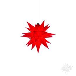 Original Herrnhuter Stern A4 aus Kunststoff für die Außen- und Innenverwendung, rot
