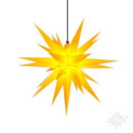 Original Herrnhuter Stern A7 aus Kunststoff für die Außen- und Innenverwendung, gelb