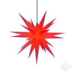 Original Herrnhuter Stern A7 aus Kunststoff für die Außen- und Innenverwendung, rot