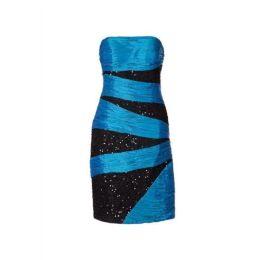 Kleid Apart, Pailletten bestickt, 32, farbe türkis-schwarz