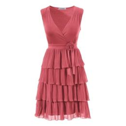 Kleid, Vivance Collection, 34, farbe koralle