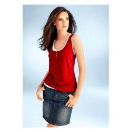 Shirt Mode von Heine Gr. 34, 38, 42, 44, 46, farbe rot