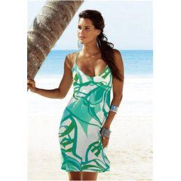 Strandkleid, Buffalo, 32, grün bedruckt