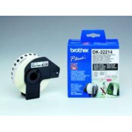 BROTHER DK22214 Endlosetiketten Papier weiss fuer QL550 QL500 12mm x 30.48m