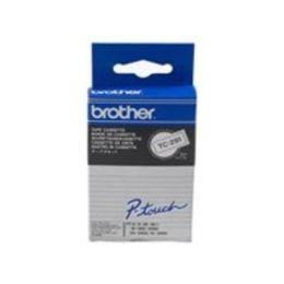 BROTHER TC291 Schriftbandkassette weiss schwarz 9mmx7.7m laminiert fuer P-touch 8e 500 2000 3000 500