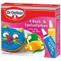 Dr. Oetker 4 Back und Speisefarben 40g