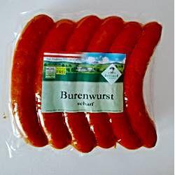 Greisinger Burenwurst scharf 12er 1,4 kg