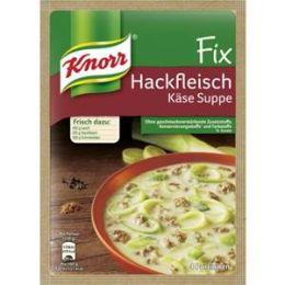 Knorr Fix für Hackfleisch Käse Suppe mit Lauch