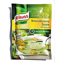 Knorr Schnelle Feine Broccolicreme Suppe m. Croutons