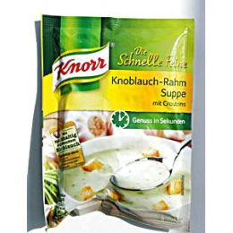 Knorr Schnelle Feine Knoblauch Rahm Suppe m. Croutons