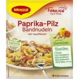 Maggi Familien Fix & Frisch Fix für Paprika-Pilz Bandnudeln mit Hackfleisch