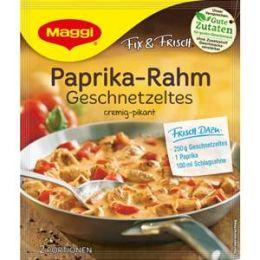 Maggi Fix & Frisch Fix für Paprika-Rahm Geschnetzeltes
