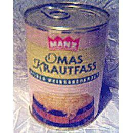 Manz Oma´s Krautfass mildes Weinsauerkraut
