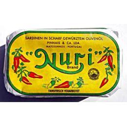 Nuri Brand Sardinen in scharf gewürztem Olivenöl